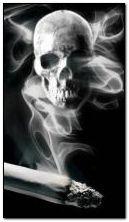 skull smoking