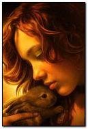 女孩和兔子