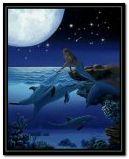 русалка з дельфінами