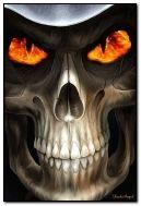 Skull Fire eyes