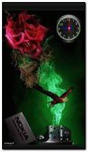 ノキアの頭蓋骨の時計アニメ