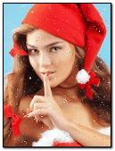 Beautiful Girl in Snow Fall