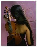скрипка дівчина
