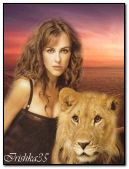 girl and the lion