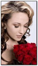 Róże i dziewczyna
