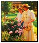 ladies in garden