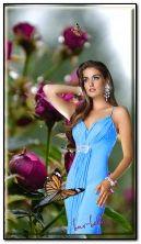 Chica en flores