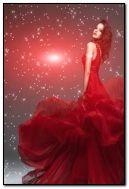 ชุดสีแดงที่สวยงาม