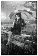 yağmurda yalnız