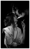 smoking lady.