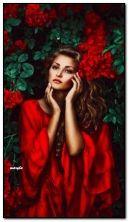 menina entre as rosas