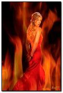 Ragazza nel fuoco