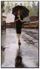 bersendirian dalam hujan