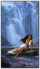 girl and the waterfall