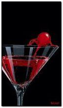 cereja quente no vidro