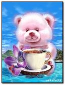 Bear cub with tea