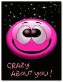 smiles crazy.