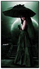 sola ragazza gotica