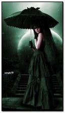 alone gothic girl