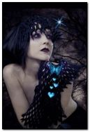 gothic lady with butterflies