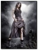 dark gothic girl