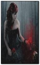 sad gothic girl