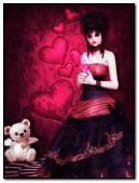 ngọt ngào gothic valentine DC42