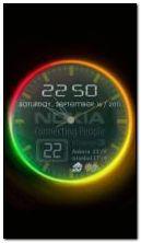 Kolorowy zegar animowany