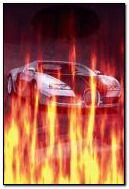 Bugatti in flame