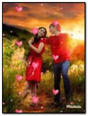 Couple in Love with Floating Hearts for ROAA