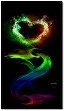 corazón de color