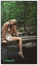 Thiên nhiên sông và phụ nữ xinh đẹp HDO150