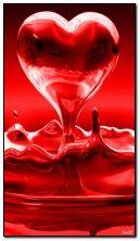 Plusk czerwonego serca