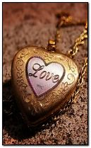 love heart medallion