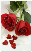 red roses and hearts