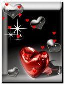 Hd cute Heart flying