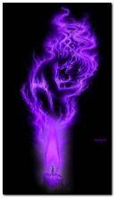 fumaça violeta
