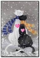 Gatos enamorados)))