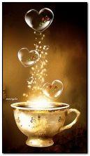 tasse magique avec amour