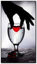Coração em um copo