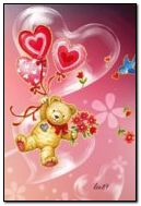 Cute love bear