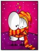 恋人在雪地里