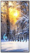 animowany śnieg I LOVE YOU HDi81