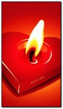 애니메이션 촛불과 심장