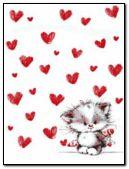 Heart & cute kitty