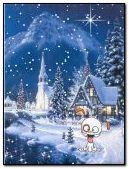 winter dog animated
