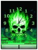Horloge crâne