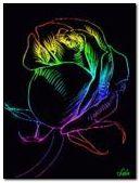 Hoa neon đầy màu sắc