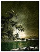 Stormy islandcell animated nature wallpapers