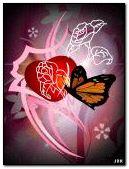mariposa i corazon